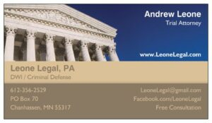 Andrew Leone legal poster