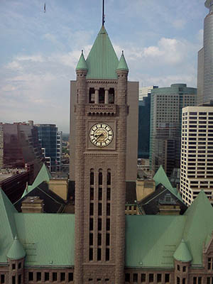 The Clock Tower of Minneapolis City Hall